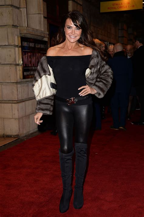 Lizzie Cundy at Memphis Press Night Arrivals - Leather