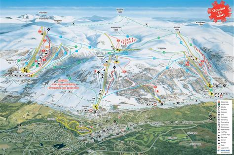 Oppdal Piste Map / Trail Map (high res