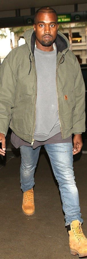 Kanye West wears Carhartt Active Jac Hoodie at LAX
