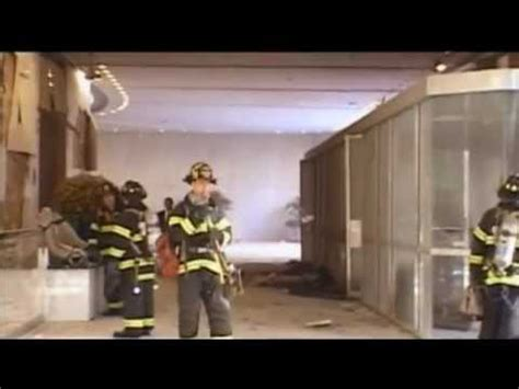 Signs of an explosion at the WTC North Tower lobby - YouTube