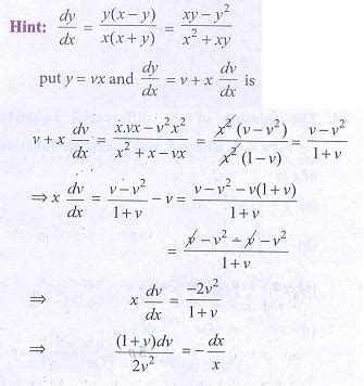 Choose the Correct answer - Differential Equations