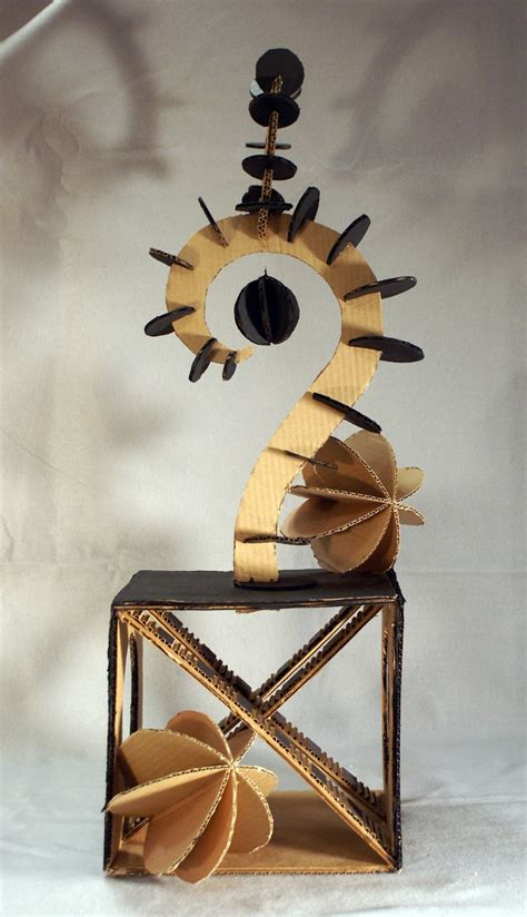 Art Now and Then: Planar Abstraction: Cardboard Sculpture!