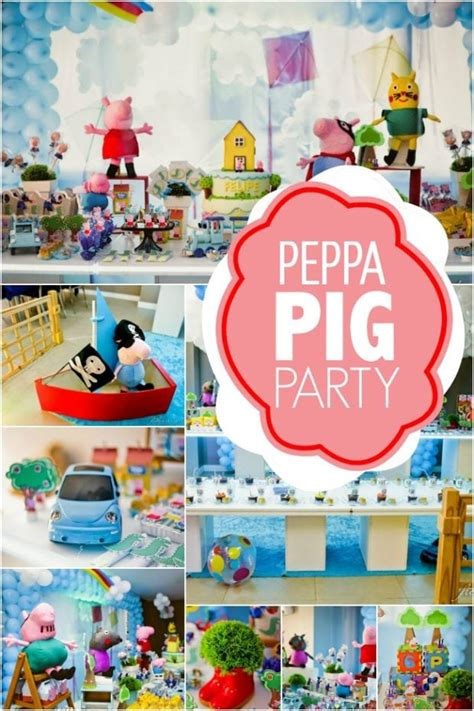 A Boy s Peppa Pig Inspired 3rd Birthday Party   Spaceships