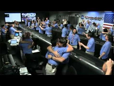 NASA control room during touchdown of Curiosity - YouTube