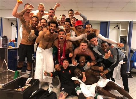 Photos: Liverpool's dressing room celebrations after