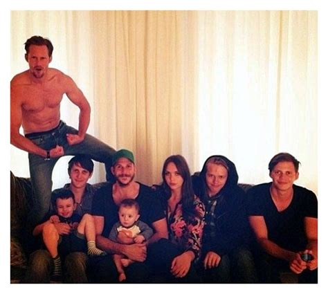 All 8 of actor Stellan Skarsgard's children his 7 sons and