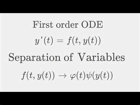 Application of first order differential equation growth